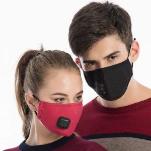 Couple wearing Oxybreath Pro mask